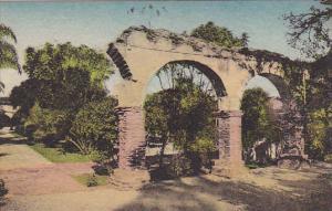 Broken Arches Inner Patio Old Mission San Juan Capistrano California Handcolo...
