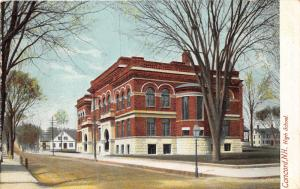 Concord New Hampshire~High School~Arched Doorways/Windows~Bare Trees~c1905 Pc