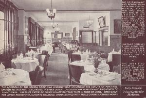 Martinez Spanish Regent Street Restaurant London Old Postcard