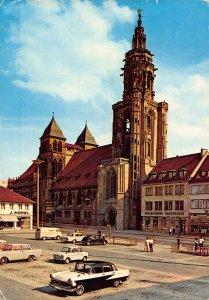 Heilbronn Neckar Kilianskirche Church Street Vintage Cars Postcard