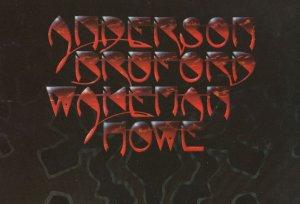 Anderson Bruford Rick Wakeman & Howe Yes LP Art Postcard