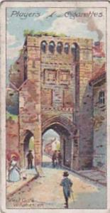 Player Vintage Cigarette Card Celebrated Gateways 1909 No 9 West Gate Winches...
