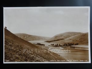 Scotland: Perthshire LOCH O'THE LOWES and St. Mary's from S.W. - Old RP Postcard