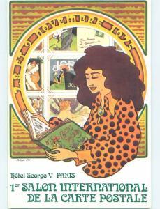 1974 SALON POSTCARD INTERNATIONAL SHOW NOTICE Paris France H9685