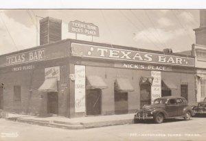 Mexico Tamps Matamoros Texas Bar Nick's Place Real Photo sk6658