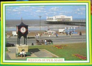 England Weston Super Mare Grand Pier and Clock Tower - posted
