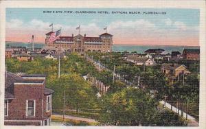 Florida Daytona Beach Bird's Eye View Clarendon Hotel