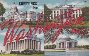 Washington DC Greetings From Washington DC 1945