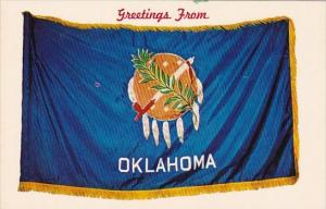 Greetings From Oklahoma With Flag