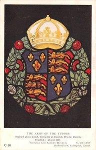 Arms of the Tudors United Kingdom, Great Britain, England Glue on back