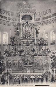 Albert Somme Notre Dame De Brebieres Chapelle Mary Statue Postcard