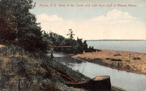 Creek and Lake from Bluff Angola, New York Postcard