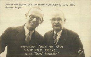 Washington DC Radio Team Arch & Sam Detective Squad 9th Precinct 1929 RPPC