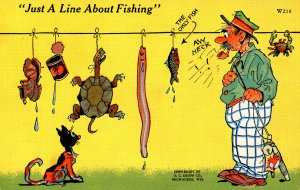 Humor - Just a line about fishing-