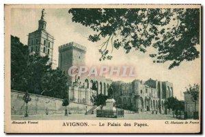 Old Postcard Avignon Palais Des Papes