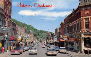 Deadwood Barber Shop~Frontier Rexall~Natl Bank~Buffalo Bar 1962 Rambler American