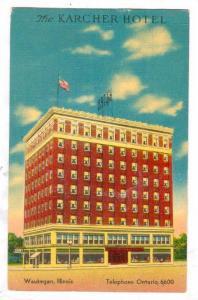The Karcher Hotel, Waukegan, Illinois, PU-1952
