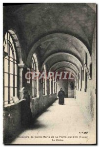Old Postcard Monastery of St. Mary of the PlERRE that Vire The cloister