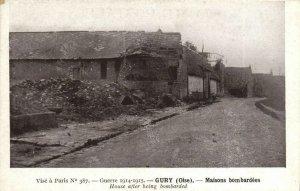 CPA GURY Maisons bombardées (130364)