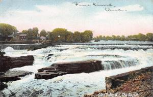 The Rapids, Glen Falls, New York, Very Early Postcard, Used in 1906
