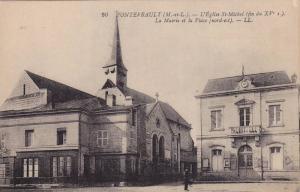 L'Eglise St-Michel, La Mairie Et La Place, Fontevrault, France, 1900-1910s
