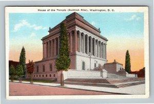 House Of The Temple, Scottish Rite, Vintage Washington DC Postcard