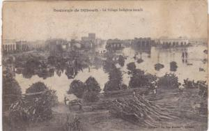 Le Village Indigene Inonde, Souvenir De Djibouti, Africa, 1900-1910s