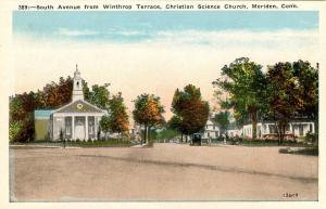 CT - Meriden.  South Avenue from Winthrop Terrace; Christian Science Church