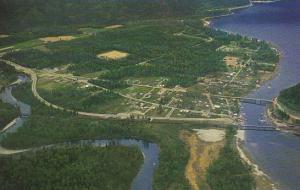 Canada Aerial View Sicamous British Columbia