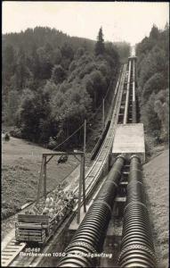 austria, PARTHENNEN, Schrägaufzug, TRAIN (1964) RPPC