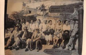 Havana Cuba Morro Castle New Year Greetings Real Photo Postcard J74238