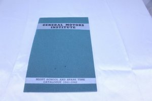 Vintage 1941-42 G.M. Institute Night School and Spare Time Catalogue