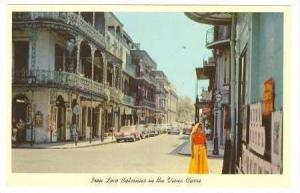 Street View,Vieux Carre,New Orleans,Louisiana,40-60s