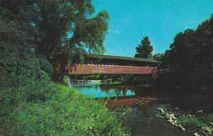 Covered Bridge Old Covered Wood Bridge In North Bennington Vermont Known As T...