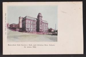 NEWFOUNDLAND - Benevolent Irish Society Hall & Christian Bros School