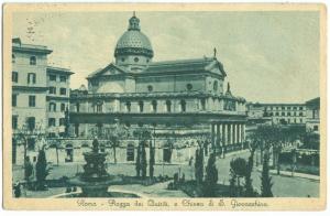 Italy, Rome, Roma, Piazza dei Quiriti e Chiesa di S. Giovacchino, 1934 used