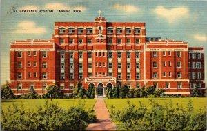 VTG Postcard St Lawrence Hospital Lansing Michigan 1942 Unposted 21