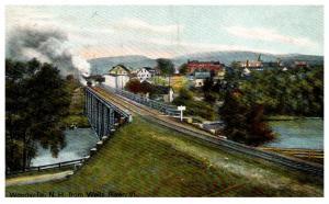 Vermont  Woodsville ,  Train on bridge over Wells River