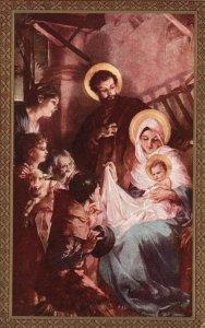 ?Vintage Postcard 1900's Adoration of the Shepherds Baby Jesus is Born Artwork