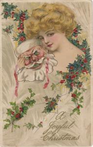 John Winsch 1909 CHRISTMAS ; Samuel Schmucker: Woman & Santa Claus Mask #4
