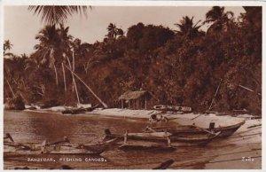 Tanzania Zanzibar Fishing Canoes Real Photo