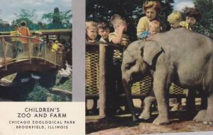 Baby Elephant, Bridge Entrance, Children´s Zoo and Farm, Chicago Zoological ...