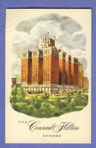 Chicago, Illinois/IL Postcard, The Conrad HiltonHotel