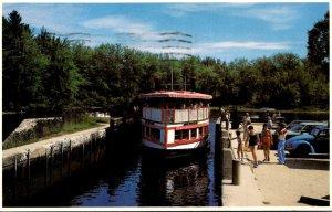 Maine Naples Songo River Queen Going Through The Songo Lock 1979