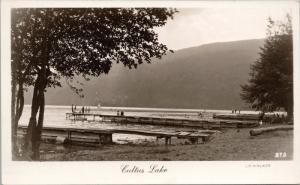Cultus Lake BC Unused Vintage JC Walker Real Photo Postcard E36