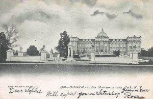 Botanical Garden Museum, Bronx Park, N.Y, Early Postcard, Used in 1905