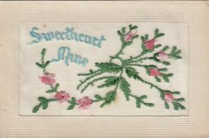Hand Sewn, 1900-10s; Sweetheart Mine, Pink flowers