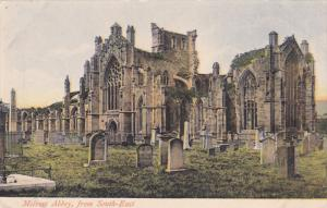 Melrose Abbey, from South-East, Roxburghshire, Scotland, United Kingdom, 00-10s