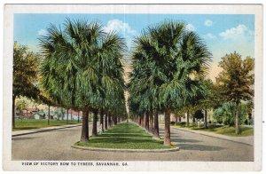 Savannah, Ga, View Of Victory Row To Tybees
