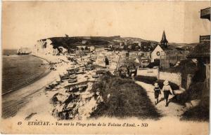 CPA ETRETAT-Vue sur la Plage prise de la Falaise d'Aval (347739)
